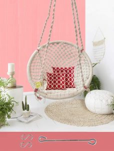 Cotton rope woven swing